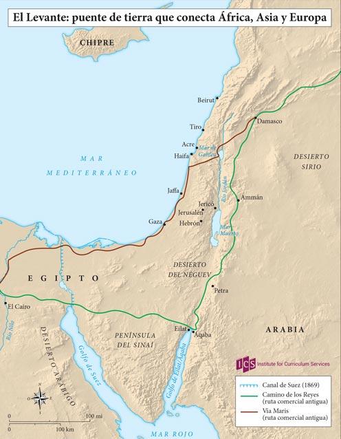 01 – El Levante puente de tierra que conecta Africa Asia Europa