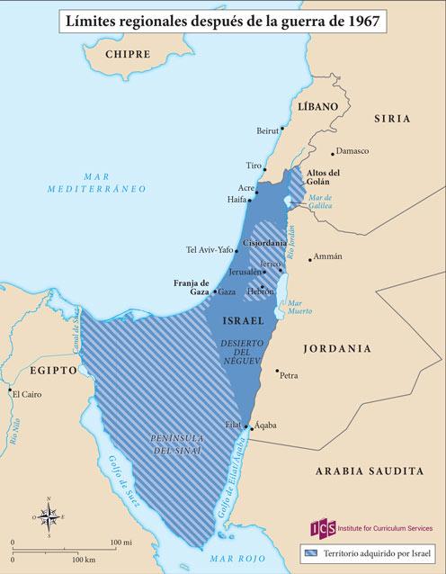 08 – Límites regionales después de la Guerra de 1967